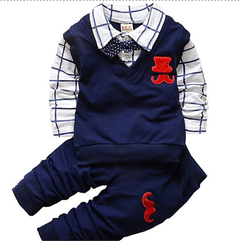 7b9f7fbea Spring Autumn Baby Boy Clothes Set Children Clothing 2019 New Kids Boys  Shirts + Pants 2PCS Sets Baby Casual Tracksuit