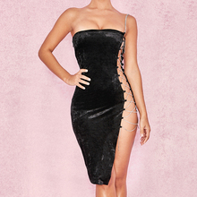 FREE SHIPPING !! Women Sexy Metal Chain Dress Bodycon Strapless Off Shoulder Dresses JKP956