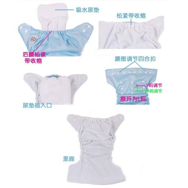 ᐊLos niños reutilizables del paño del bebé del panal del pañal ...
