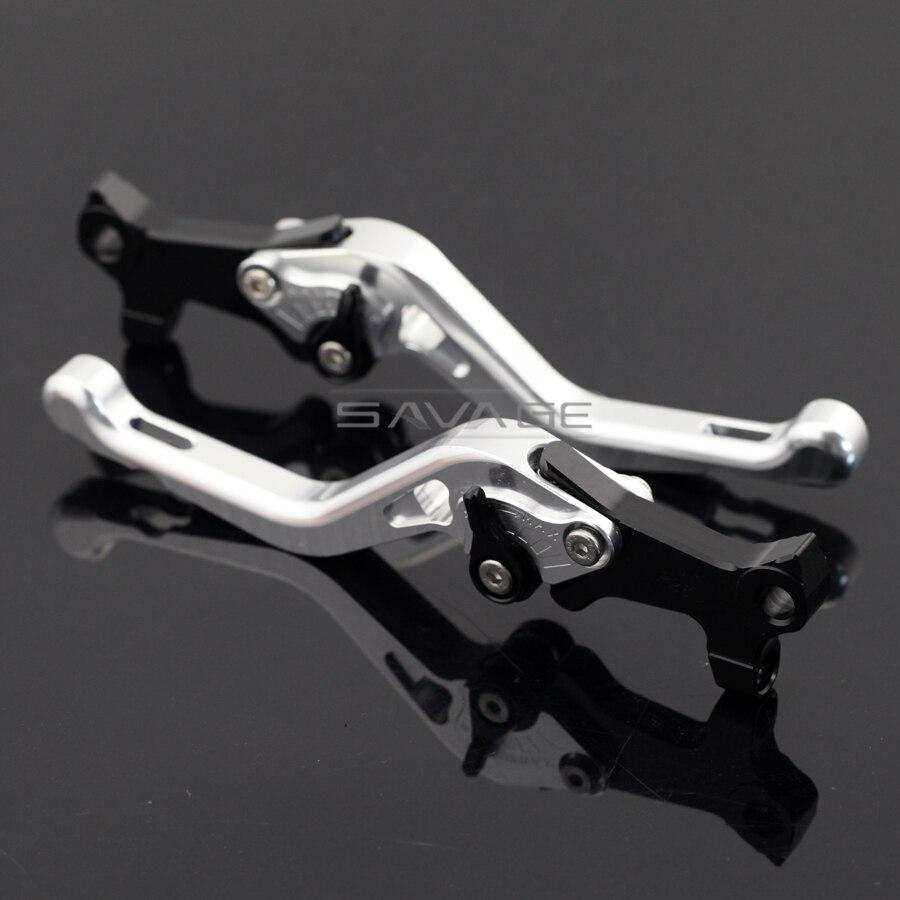 Для gilera/Piaggio с Беверли 125/250/400 РСТ/турер/ес3 Серебряный мотоцикл Алюминиевый Регулируемый короткий левый правый тормозные рычаги