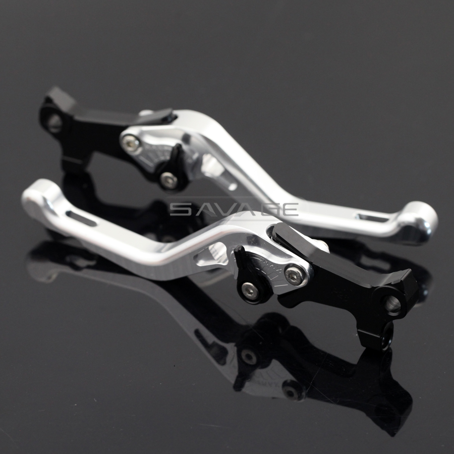 Short Left Right Brake Levers For GILERA/PIAGGIO Beverly 125/250/400 rst/tourer/eu3 Silver Motorcycle Aluminum Adjustable