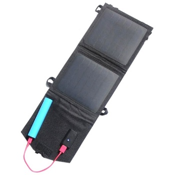 New 8W Foldable Solar Panel Charger For iphone Mobile Power Bank Solar Battery Charger black Зарядное устройство