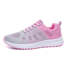 ZHENZU Breathable Women's Running Shoes Black Pink Woman Sport Shoes Sneakers