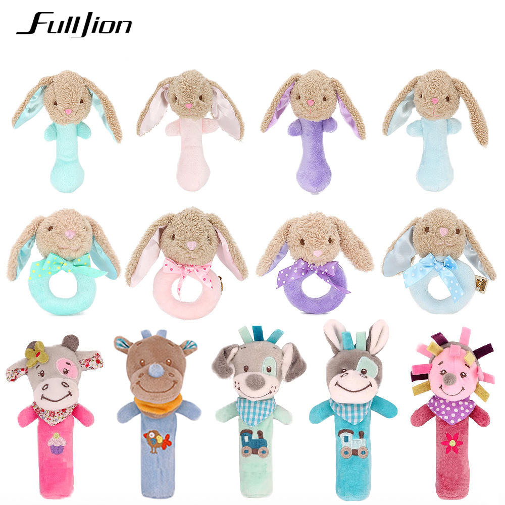 Fulljion Baby Plush Stroller Toys For Baby Rattles Mobiles For Crib Musical Stroller Doll Stuffed Animal Plush Popular Soft Pony