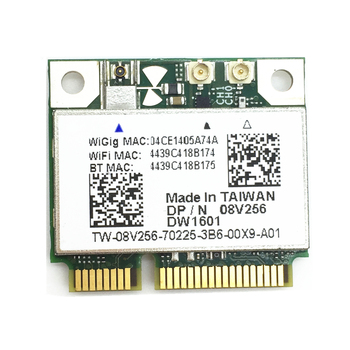 Wireless DW1601 QCA9005 8V256 WiGig 802.11AD 7Gbps Half Mini Wireless Card for Dell Latitude 6430u/ E6430 / XPS 18