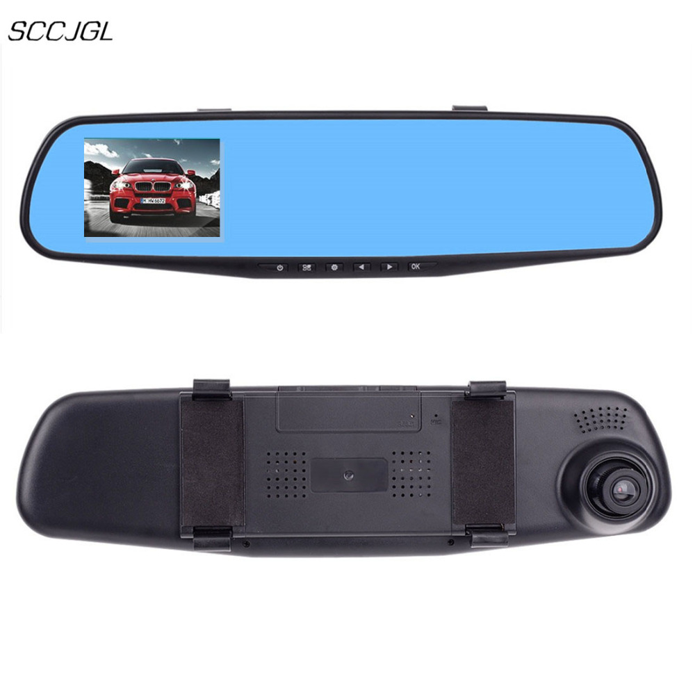 imágenes para 2017 nueva ultrafinos cámara del coche de HD 720 P Cámara Del Dvr Del Coche Auto de 2.8 Pulgadas Espejo Retrovisor Grabador de Vídeo Digital Videocámara