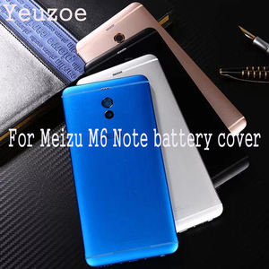 Image 1 - Original Housing For Meilan Note 6 Battery Back Cover 5.5inch Metal Mobile Phone Replacement Parts Case for Meizu M6 Note M721H