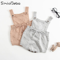 INS Summer Knitted Rompers Newborn In Baby Girls&# ...
