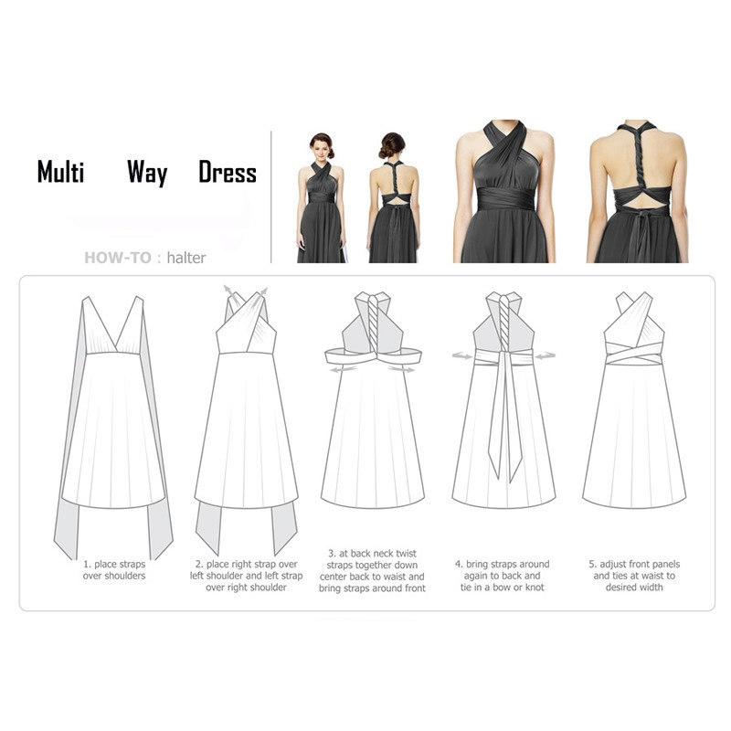 Sexy Long Dress Bridesmaid Formal Multi Way Wrap Convertible Infinity Maxi Dress Navy Blue Hollow Out Party Bandage Vestidos 29
