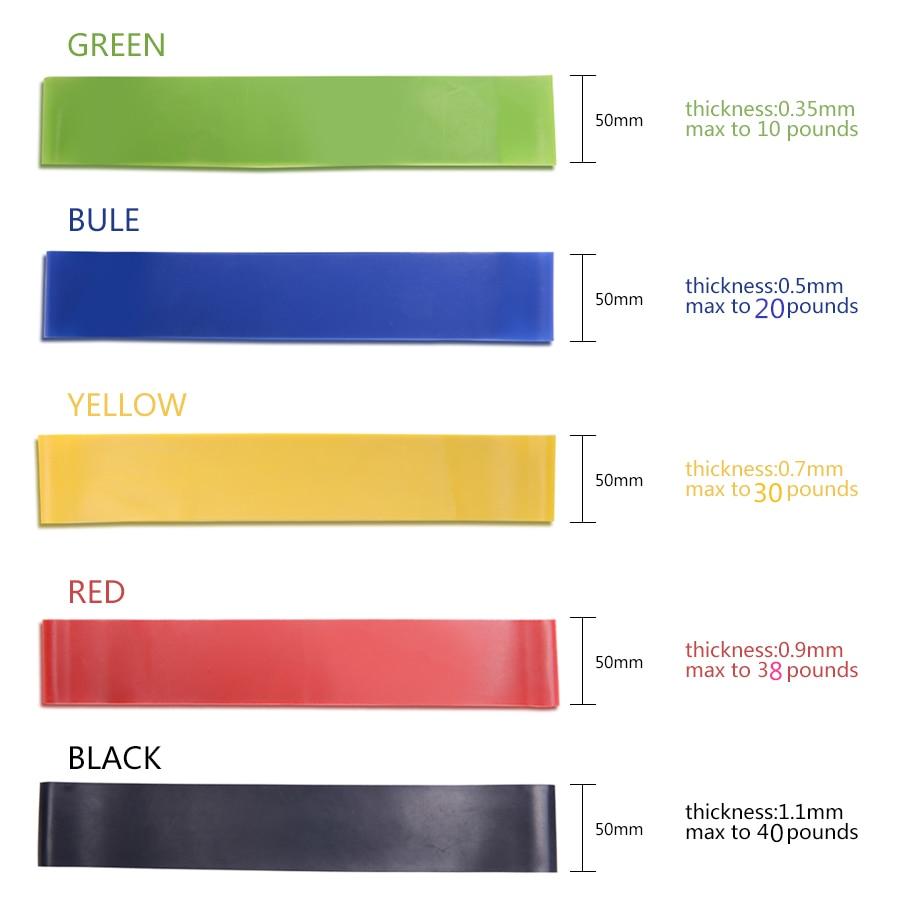5 χρώματα αθλητικών ελαστικών ζωνών - Fitness και bodybuilding - Φωτογραφία 2