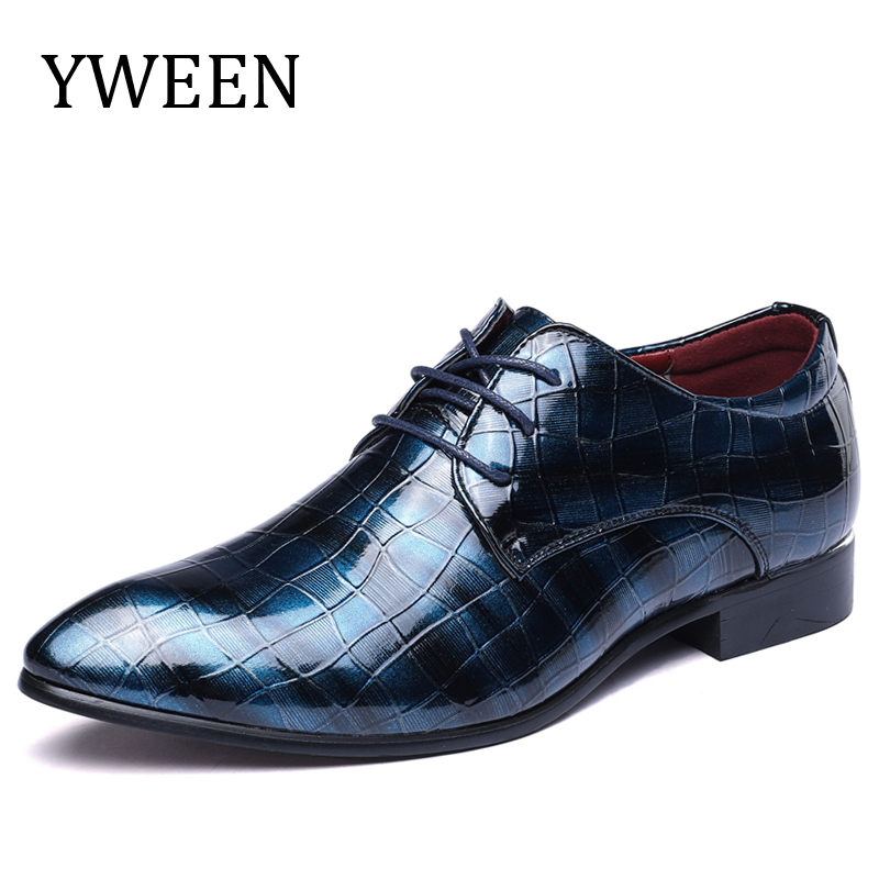 YWEEN New Dress Shoes For Men Pointed Toe Glossy Leather With Party Work Bussiness Shoes Big size EUR 38-48 100sheets lot new a4 size white blank glossy