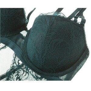 Image 5 - Varsbaby נשים של סקסי תחתוני מקשה אחת לדחוף את תחרה הלבשה תחתונה חלול יופי בחזרה חזיית סט