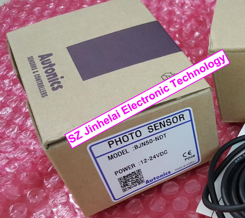 лучшая цена BJN50-NDT BJN50-NDT-P Authentic original Autonics PHOTO SENSOR PHOTO SWITCH 12-24VDC