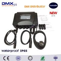COLORNIE New Arrival!! Outdoor Waterproof IP65 DMX Distributor Stage Lights Signal Amplifier Splitter DJ Lighting DMX512