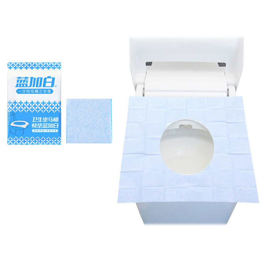 1 Pack Toilet Seat Pads 100% Waterproof Safety Portable Disposable Toilet Seat Cover Mat For Travel/Camping Bathroom Accessiorie-in Toilet Seat Covers from Home & Garden