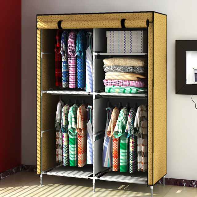 simple cloth wardrobe cabinet product family tubes thicker cloth