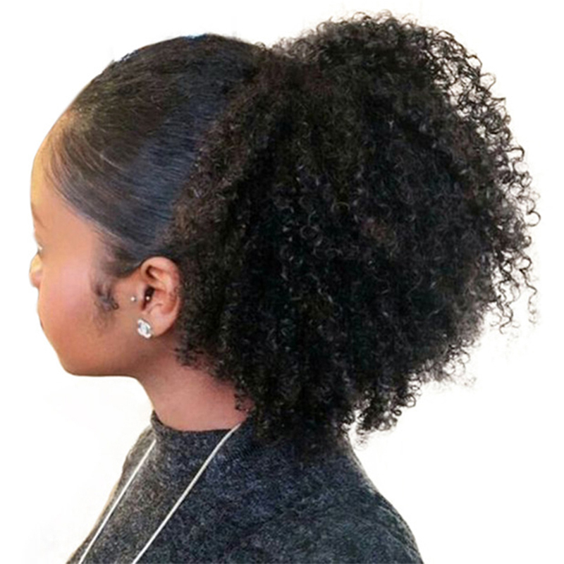 curly afro ponytail - 800×800