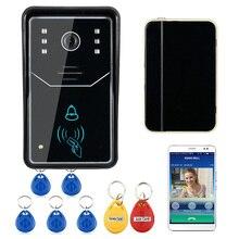 MOUNTAINONE 001 Étanche 125 KHZ Rfid Porte D'accès IOS Android Smartphone Contrôle IR Nuit Vision Interphone Vidéo WiFi Sonnette