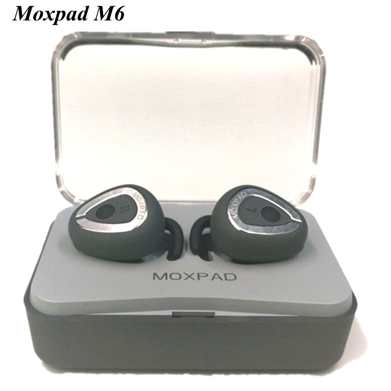 2018 <font><b>Original</b></font> Moxpad M6 Wireless Earphones Separating Earbud Bluetooth 4.1 <font><b>TWS</b></font> Earphones Stereo Music Headsets with Charge Case image