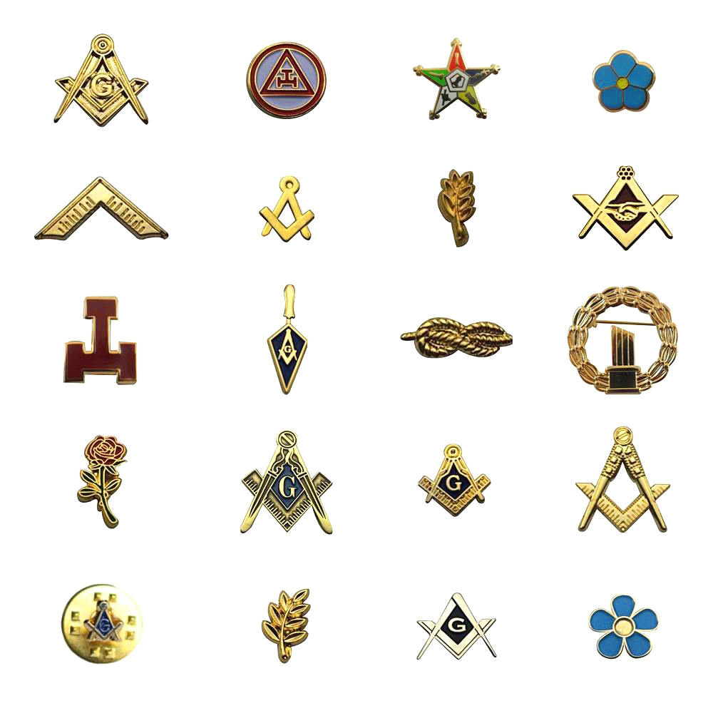 Multi Masonic Lapel Pins Free and Accepted Mason Blue Lodge Compass Sqaure Brooch Gifts Badges With Butterfly Clutch
