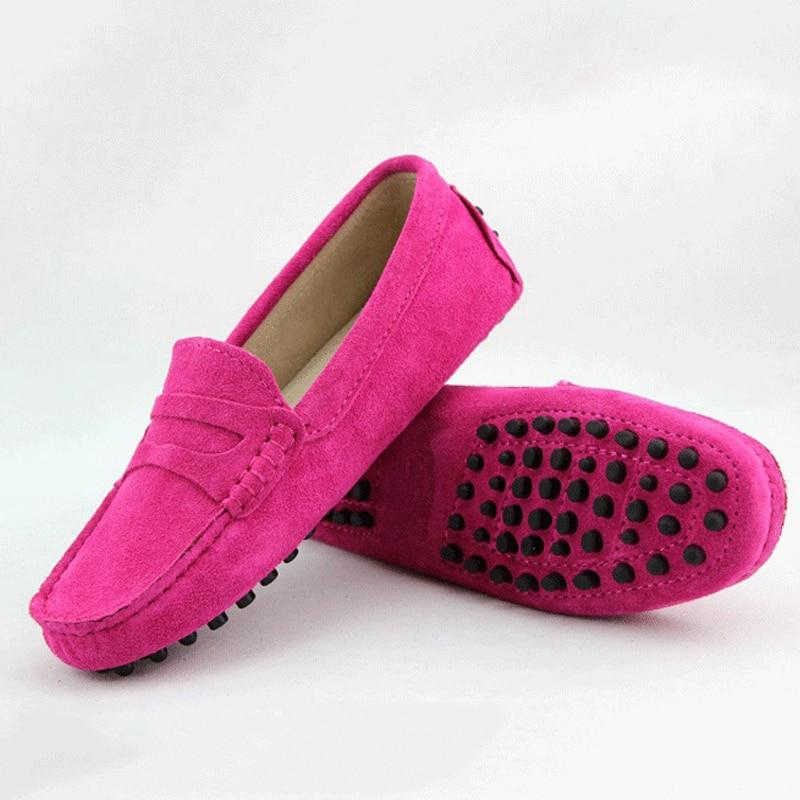 2017 Zapatos de Las Mujeres 100% Mujeres Del Cuero Genuino Zapatos Planos Ocasio