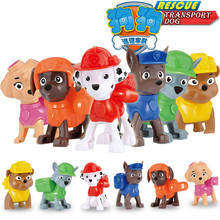 2016 6pcs/Set Original For Puppy Patrol Canine Toy Action Figure Dog Anime Can Catapult Patrulla Canina Patrol Canine Brinquedos