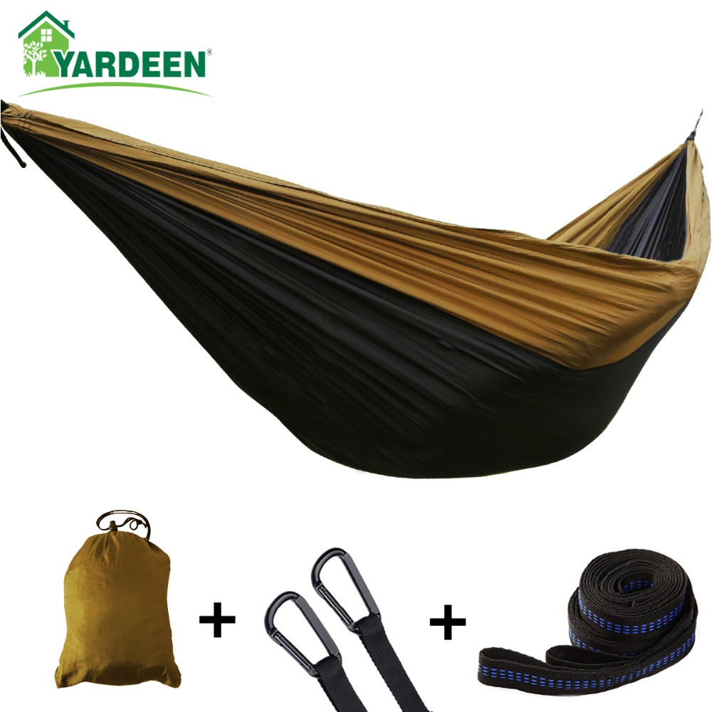 Double & Single 275*140cm Tree Hammocks Camping Indoor Outdoor Portable Parachute Hammocks For Backpacking Survival Travel