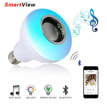 VONTAR E27 Smart RGB RGBW Bluetooth Speaker Bulb Music Playing Wireless LED Light Lamp Player with 24 Keys Remote Control