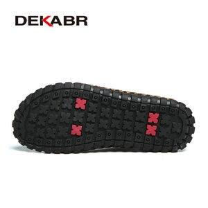 Image 4 - DEKABR zapatos informales de piel auténtica con cordones para hombre, calzado elegante de uso diario, Oxford