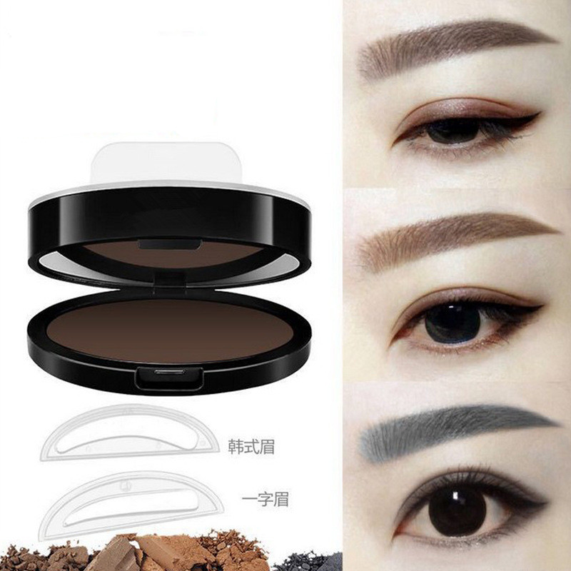 Professional Natural Eyebrow Stamp Waterproof Eyebrow Powder Seal Quick Makeup Eye Brow Cosmetic Beauty Makeup Tool Tattoo Brow 3