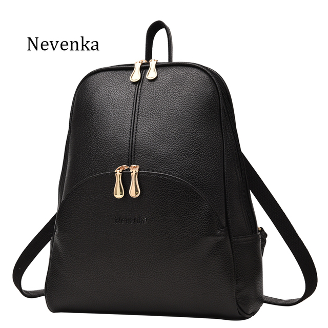 Nevenka Women Backpack Leather Backpacks Softback Bags Brand Name Bag  Preppy Style Bag Casual Backpacks Teenagers Backpack Sac 4857275add