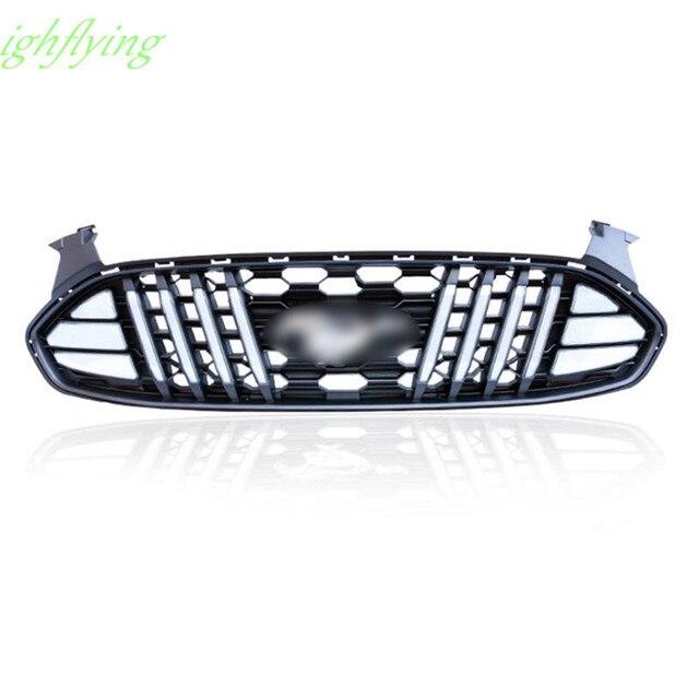 LED Central Delantero Parrilla de la Parrilla Cubierta del Protector de la Cubierta de Moldeo Para Ford Mondeo Fusión 2013-2016