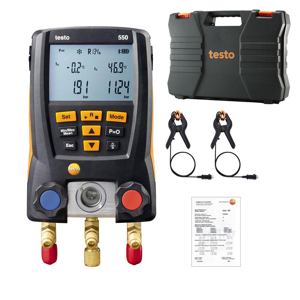 Digital Manifold Kit Pressure Gauge Refrigeration Pressure Manifold HVAC Temperature Tester Refrigerant Meter Set Testo 550