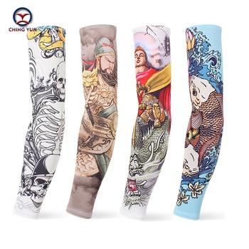 CHING YUN New Imitation Tattoo Arm Sleeve Fashion Sleeves Warmer Unisex UV Protection Outdoor Temporary 2-piece set03