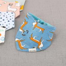 Baby Bibs for Boy Girl Bandana Bib Burp Cloth Cartoon Animal Triangle Cotton Baby Scarf Meal Collar Burp Baby Accessories