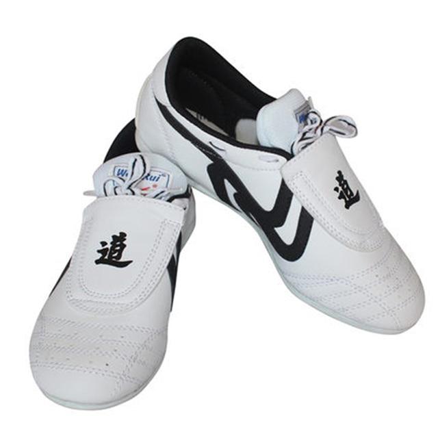 39dce2d61bf Antislip Taekwondo Schoenen Vechtsporten sport Sneaker Witte zool coach  student comfortabele Training concurrentie TKD schoenen voor