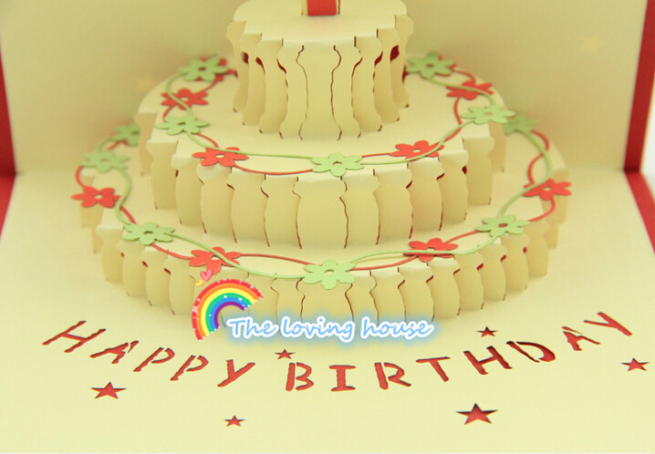 Happy Birthday Card Creative Korea Birthday Cake 3d Stereo Card On
