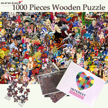 MOMEMO Animation Collection Puzzles for Adults 1000 Wooden Jigsaw Puzzle Toys 1000 Pieces Puzzle Children Puzzle Games Kids Toys momemo one piece 1000 pieces jigsaw puzzles straw hat pirate group of people puzzle for adults wooden puzzle games child puzzle