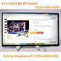 13.3 дюймов 1920*1080 8 Бит Экран IPS 1080 P HDMI ЖК-Модуль Автомобиля Raspberry Pi 3 Игры PS4 Монитор DIY