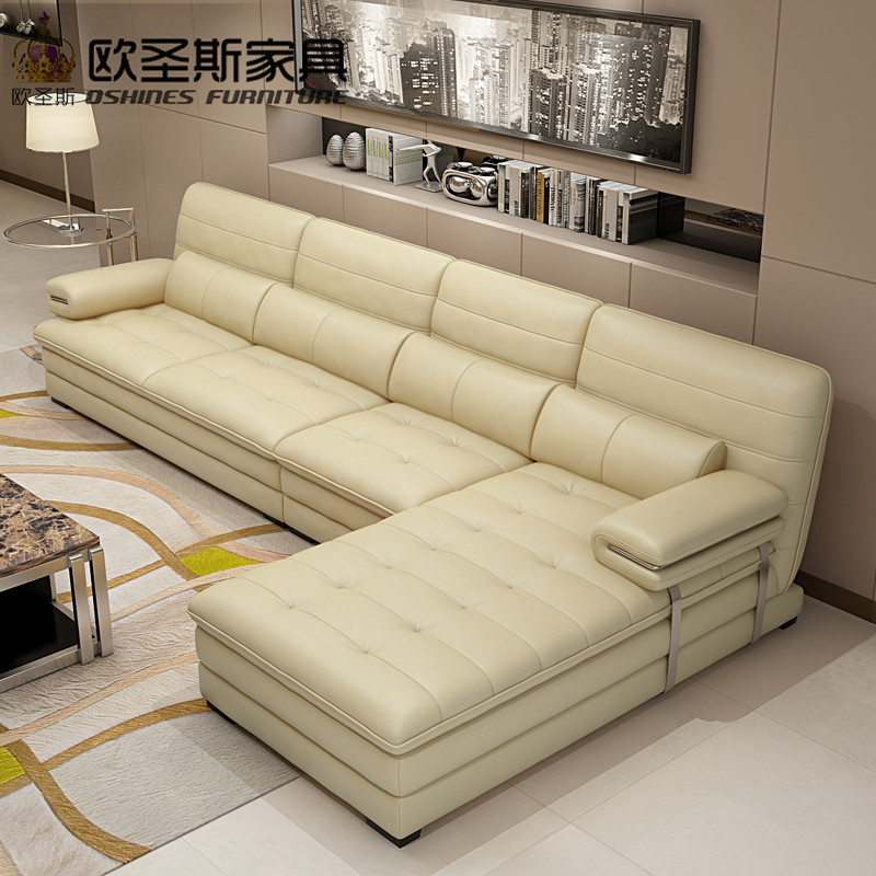 US $902.5 5% OFF|yellow leather sectional sofa set, metal frame leather  sofa,italian leather l shape sofa 602-in Living Room Sofas from Furniture  on ...