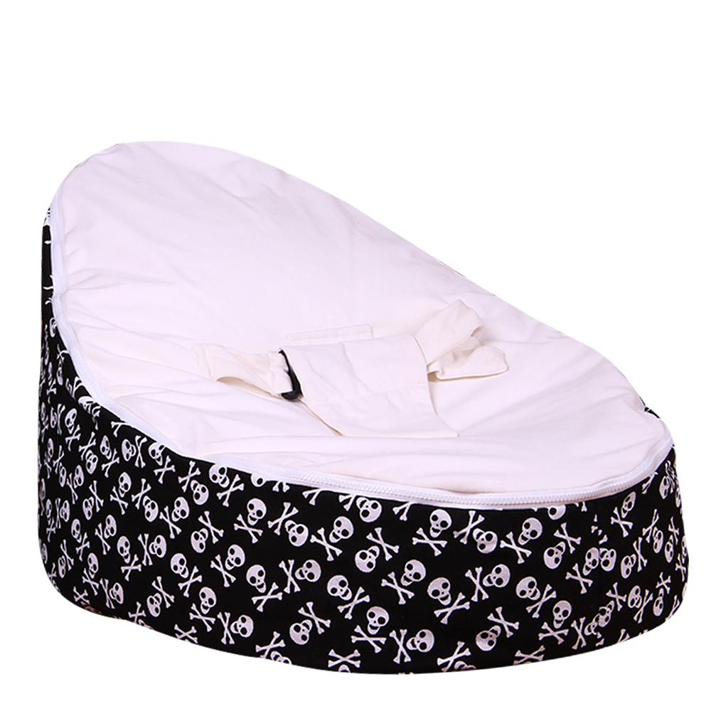 Levmoon Medium Skull Print Bean Bag Chair Kids Bed For Sleeping Portable Folding  Child Seat Sofa Zac Without The Filler #3