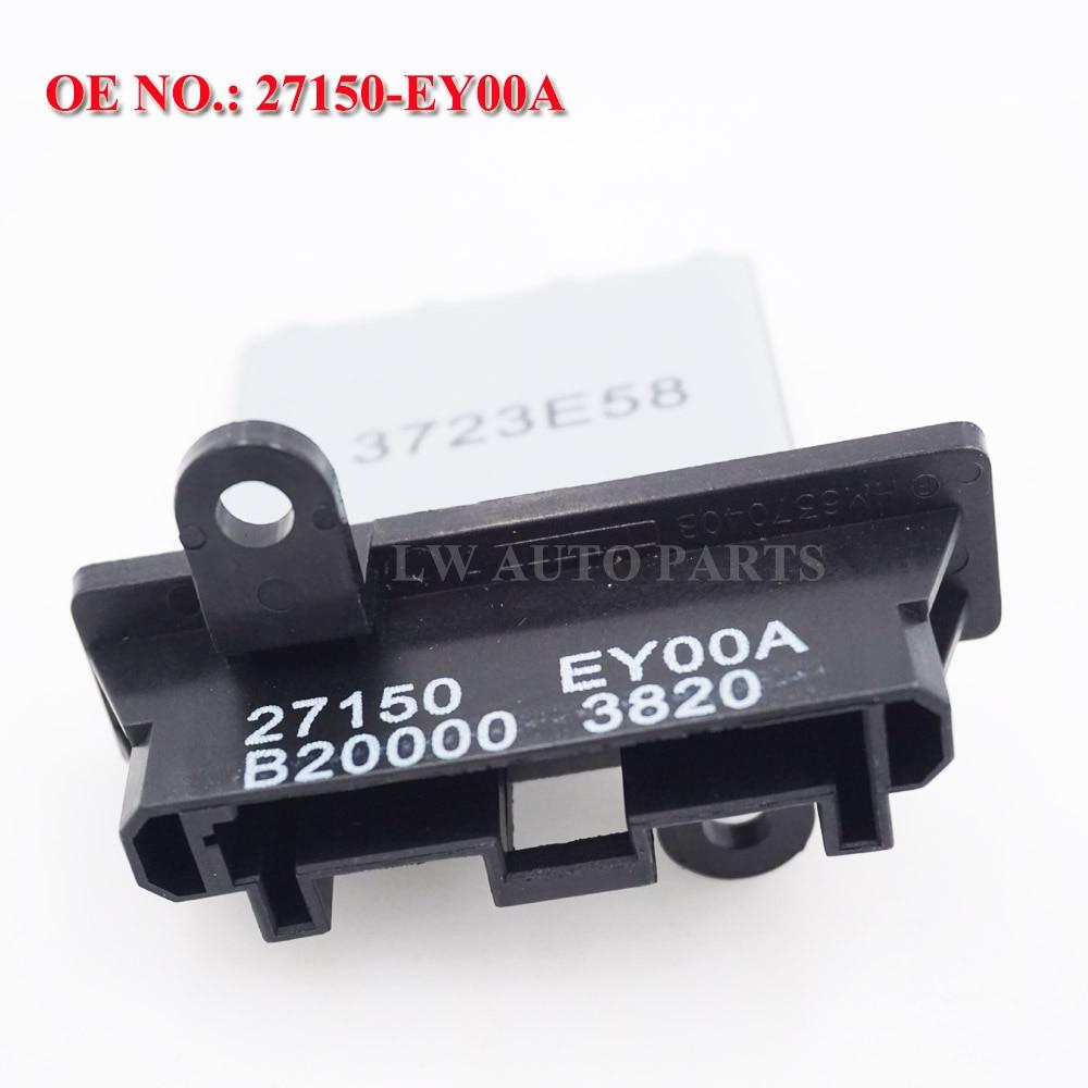 Resistor do motor do ventilador parte nenhum # 27150-ey00a 271502-j000 27150-8h300 para x-trail nv200 qashqai maxima