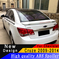 For Chevrolet Cruze 2009 to 2014 spoiler High quality ABS primer or any color with Brake lamp car rear spoiler for Cruze