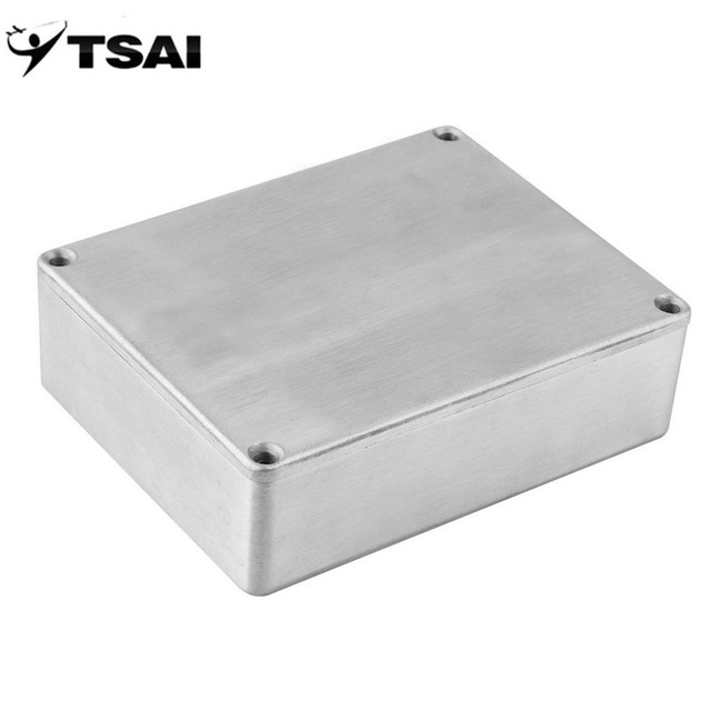 be0b03fb1e TSAI 1590B Style Effects Pedal Aluminum Stomp Box Enclosure for Guitar  Instrument Cases Storage Holder ARE4 ship from USA Newest