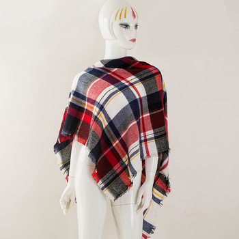 2018 Hiver Triangle Écharpe Femmes Nouvelle Marque Designer Châle ... 12ca5d6a54f