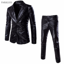 Jacket+Pants Suit Men 2017 Brand New Two Buttons Mens Dress Suits Casual Slim Fit Party Stage Costumes Men Veste Homme Costume