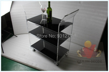 ONE LUX KD Packed New Acrylic hotel trolley,Lucite serving Bar carts