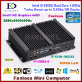Fanless PC Intel Core i3 4010U/5005U i3/i5 4200U dual core HDMI WIFI VGA 2 * COM rs232 Безвентиляторный промышленный компьютер