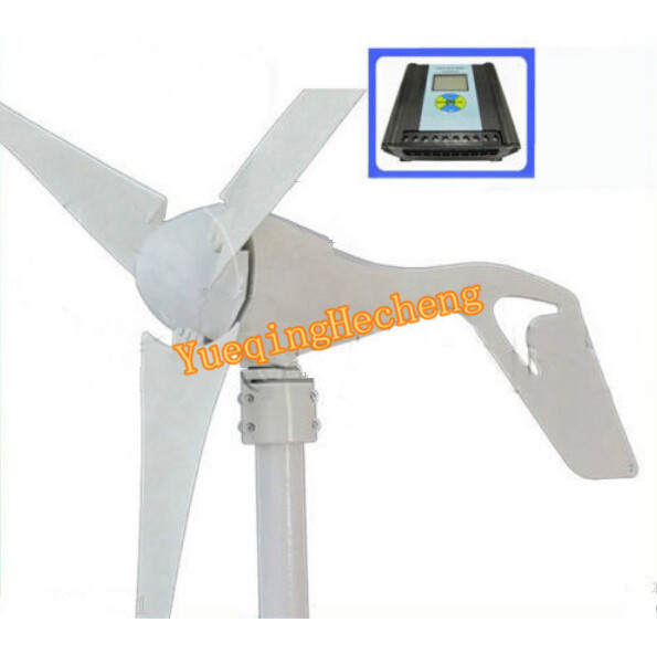 Wind Generator Kit 600W 12/24V Option With Wind/Solar Hybrid Controller NEW free shipping 600w wind grid tie inverter with lcd data for 12v 24v ac wind turbine 90 260vac no need controller and battery