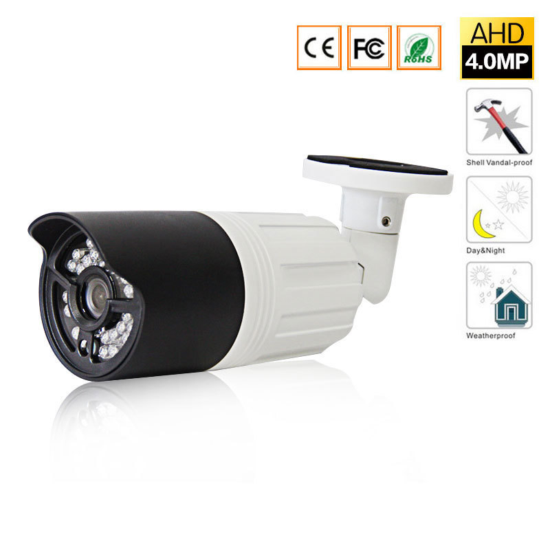 AHD 4MP IR Camera Mini Waterproof Bullet Camera Analog AHD Camera Outdoor/indoor IR CUT Night Vision Plug and Play for AHD DVR bullet camera tube camera headset holder with varied size in diameter